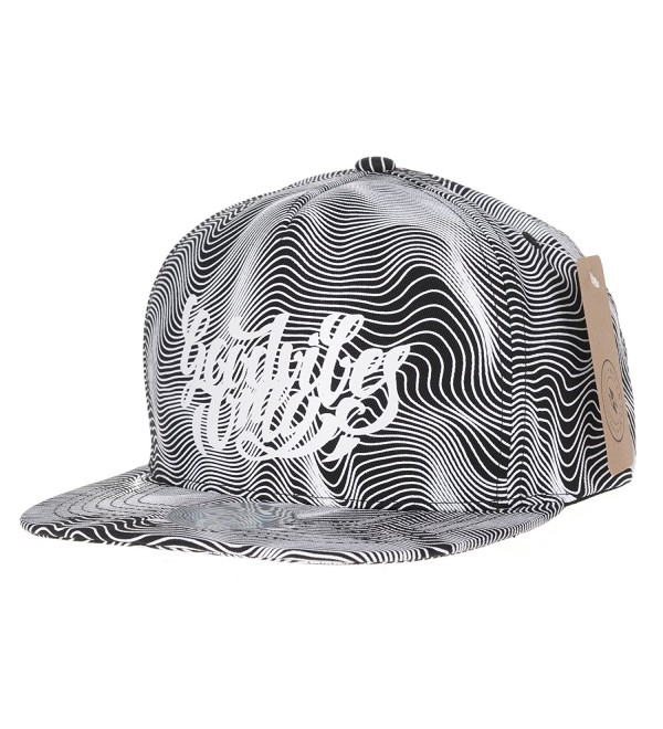 WITHMOONS Snapback Hat Optical Illusion Metallic Print Cap AL2453 - White - CL12MXA4YH6