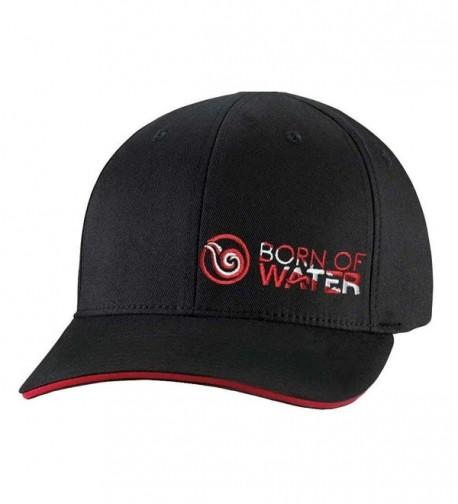 Scuba Diver Down Flag Fitted Hat: Signature Flexfit Cap: Born of Water Apparel - Black - CP11OU2ANYD