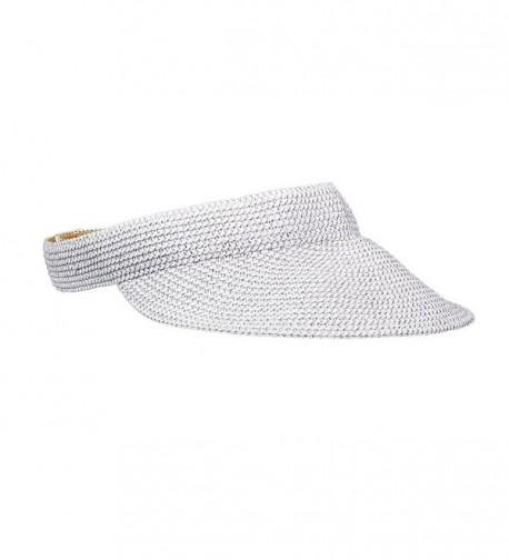 Tommy Bahama Women's Paper Braid Visor - White - C3184RZEOIT