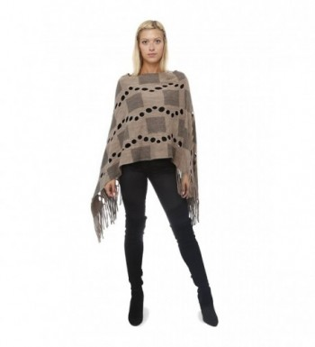 Highness Square Asymmetrical Poncho - Brown - C0127MD14NV