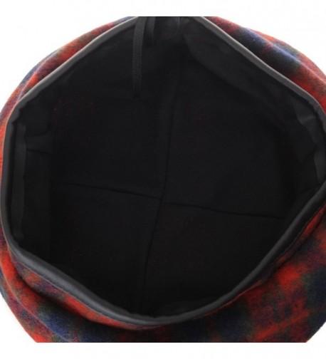 WITHMOONS Tartan Leather Sweatband KR3781 in Women's Berets