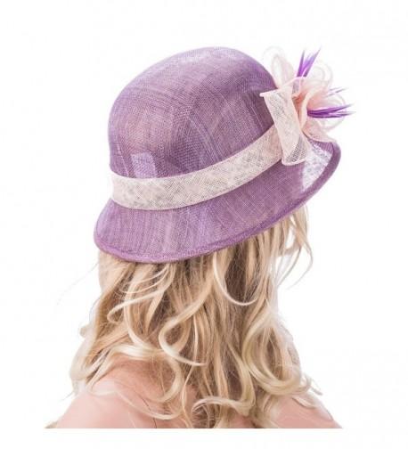 Purple Womens Sinamay Floral Church in Women's Sun Hats