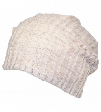 David & Young Womens Solid Color Lightweight Rib Knit Beanie (One Size) - Beige - C712MXL87JS