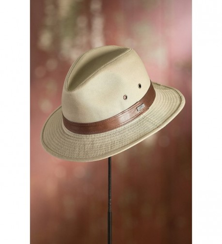 Washed Twill Safari Leather Band in Women's Cowboy Hats