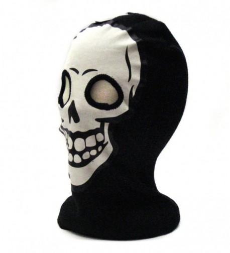 White Skeleton Face Gothic Beanie
