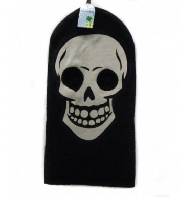 White Skeleton Face Gothic Beanie in Men's Balaclavas