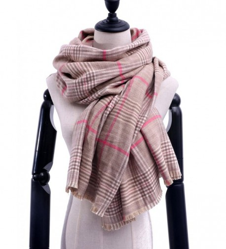 "Stylish Plaid Blanket Scarf Fashion Warm Pashmina Scarves Winter Wrap Shawl With Gift Box 79""x27.5"" - Beige - CM1872UWM49"