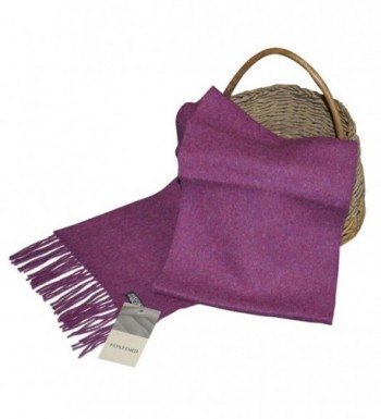 Ladies Wool Scarf- 100% Lambswool extra soft- Imported from Ireland- Purple - CU11JGO0G75