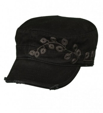 Dorfman Pacific Womens Embroidery Military in Women's Baseball Caps