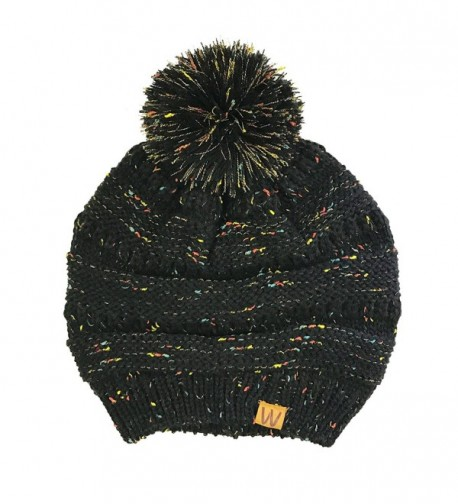 Wrapables Warm Confetti Beanie Black in Cold Weather Scarves & Wraps