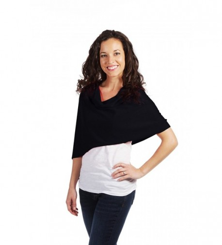 Shawl by SelahV Fashion- Women's Wrap- Perfect For Travel- Fits Most Shoulders - Black - CM11WBQCRGN