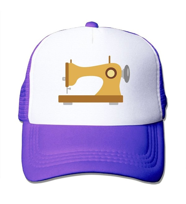 Unisex-Adult Sewing Machine Two-toned Football Cap Hat Black - Purple - CW187QZS5DW