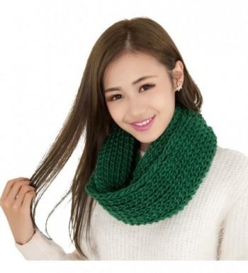 BININBOX Women's New Korean Style Soft Warm Infinity Circle Scarf - Green - C811PPLFTB1