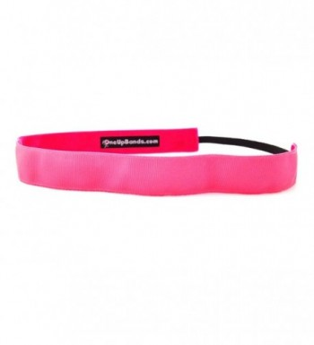 One Up Bands Women's Solid Neon Pink One Size Fits Most Pink - Pink - CY11K9XFGQN