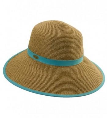 Cappelli Women's Paper Braid Face Saver Sun Visor HAT - Turquoise - CE11AAIHC35