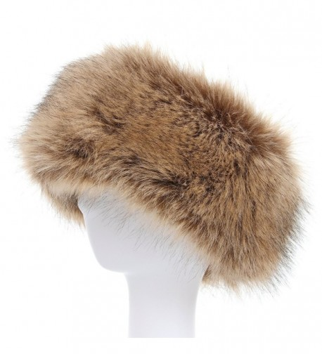 La Carrie Faux Fur Headband with Stretch Women's Winter Earwarmer Earmuff - Natural - CB1868Z6RMI