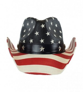 Shapeable Cowboy Leather Stripes Patriotic