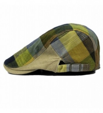 Naray Men's Classic Herringbone Tweed Wool Blend Newsboy Ivy Hat - Green - CS12LY38Y5B