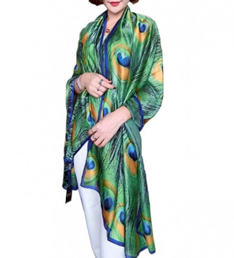 Womens Fashion Peacock Feather Prints