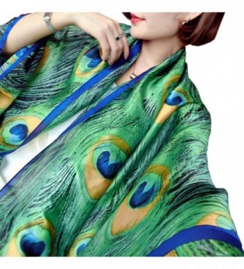 Womens Fashion Peacock Feather Prints in Fashion Scarves