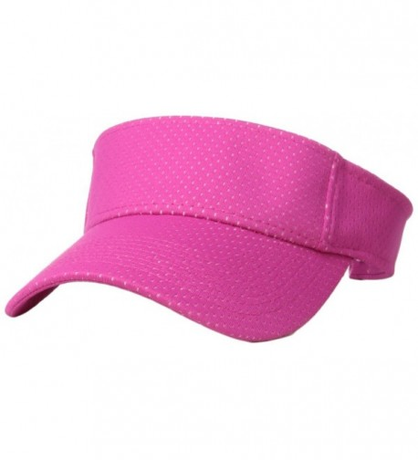 Augusta Sportswear Athletic Mesh Visor - Power Pink - C112F05G6E5