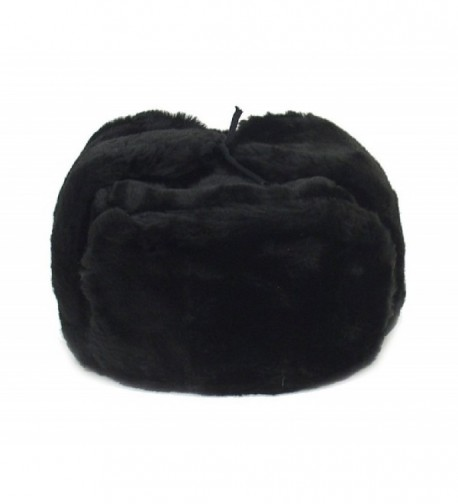 Russian Winter Hat *Shapka-Ushanka*BLACK*Size M (metric 58) - C011HRNPIFH