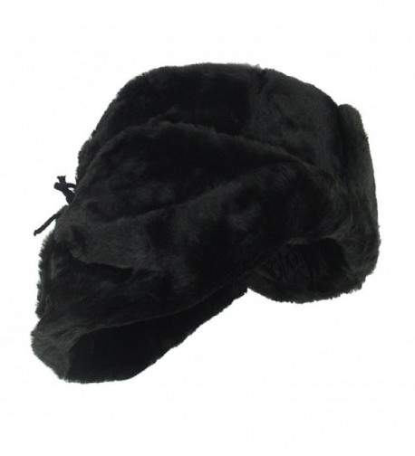 Russian Winter Shapka Ushanka BLACK metric
