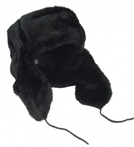 Russian Winter Shapka Ushanka BLACK metric in Men's Skullies & Beanies