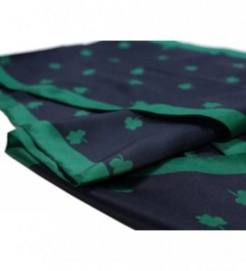 Shamrock Scarf Navy Polyester Ireland in Fashion Scarves