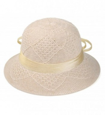 ChezAbbey Summer Cloche Floppy Fascinator in Women's Bucket Hats