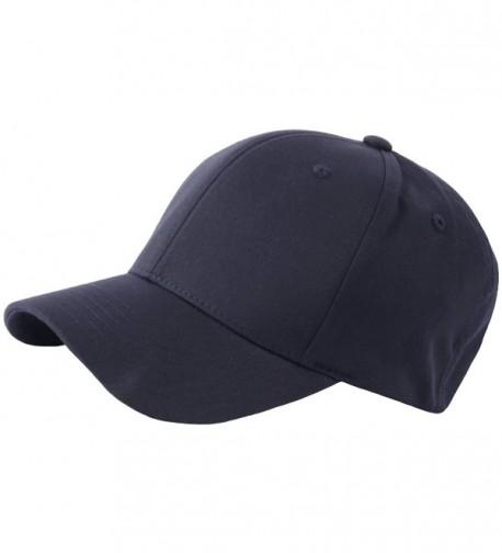 RaOn G57 Men Spandex Empty Plus Size XL XXL Flex Big Ball Cap Baseball Hat Truckers - Navy - CA182KLMLMN