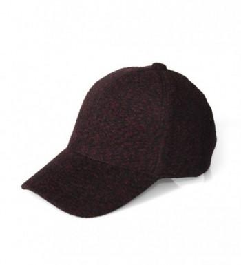 JOOWEN Winter Dots Woolen Blend Baseball Hat Thick Warm Cap For Women/Men - 2 Burgundy - CI186DHEM77