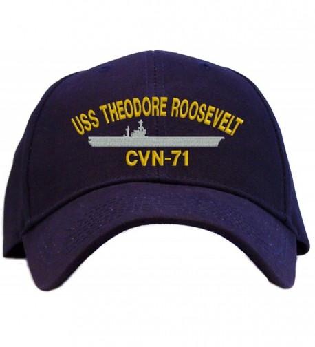 USS Theodore Roosevelt CVN-71 Embroidered Baseball Cap - Navy - C811EW71L89