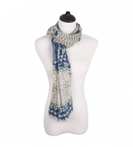 IvyFlair Vintage Floral Geometric Bohemian in Fashion Scarves