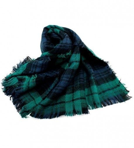 Oct17 Tartan Lattice Blanket Checked in Fashion Scarves