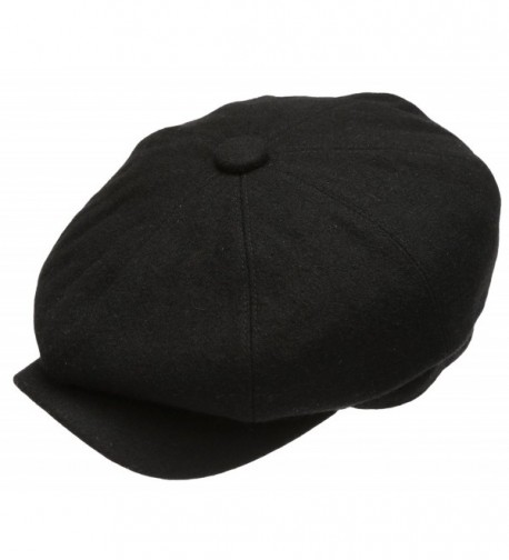 Premium Panel Newsboy Socks Black in Men's Newsboy Caps
