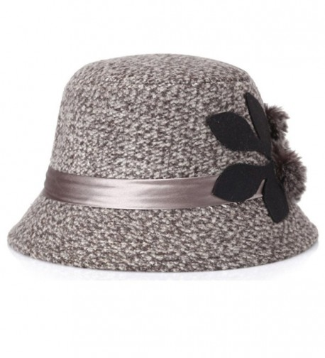 d6e769fa083e36 Womens Vintage Wool Felt Cloche Bucket Bowler Hat Winter Crushable ...