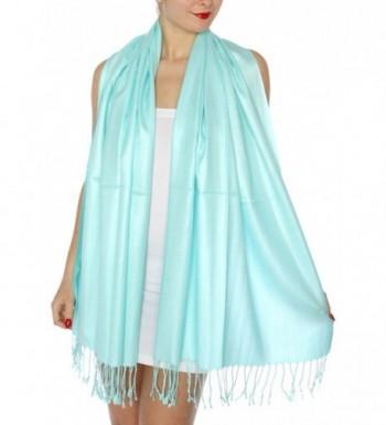 SERENITA Womens Silky Solid Pashmina in Wraps & Pashminas
