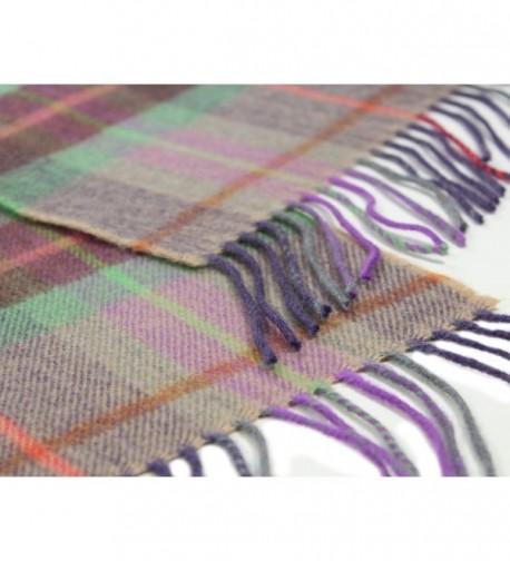 Scarf Merino Lambswool Purple Green in Fashion Scarves