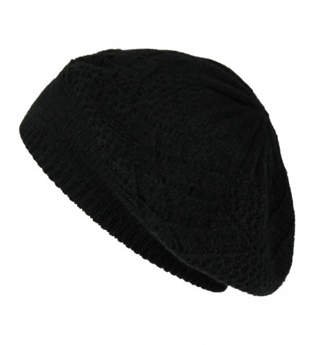 Winter Pointelle Classic Slouchy Beanie