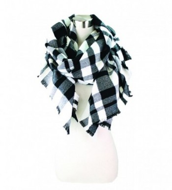 Buffalo Check Blanket Scarf - Bk&wt - CH1863TI5XZ