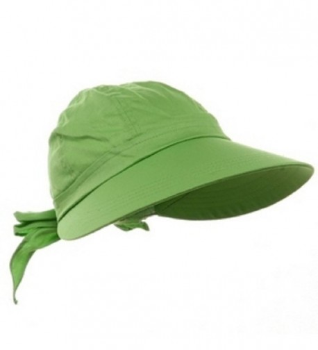 Lime Green Wide Brim Peak Gardening Sun Hat - CW11K9V2BI1