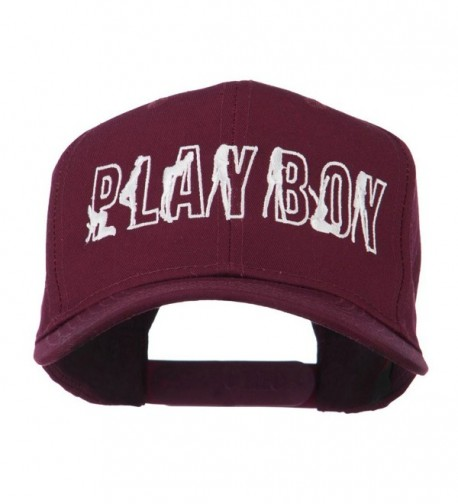 Playboy Embroidered Cap - Maroon - CS11LBM92HP