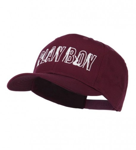 Playboy Embroidered Cap Maroon OSFM