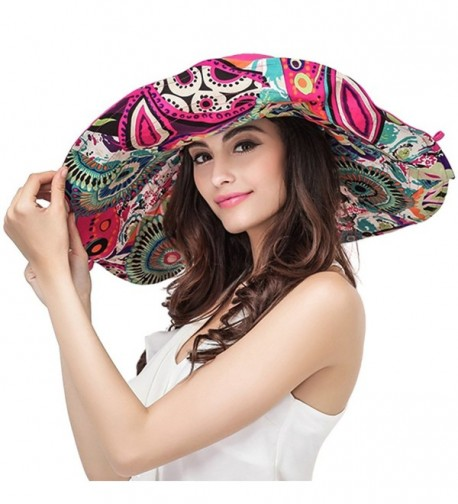 YoungLove Packable Reversible Large Summer in Women's Sun Hats