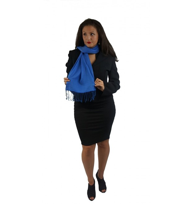 SCARF/ SHAWL- PASHMINA SCARF from Cashmere Pashmina Group (ROYAL BLUE) - CW11254VYKV