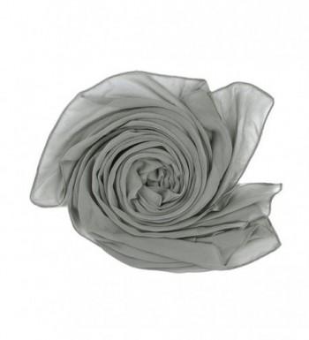 Elegant Chiffon Scarf Wrap Wedding Bridal Party Occasion Prom - 28 Colours - Silver Coin - CL186QYA3MZ