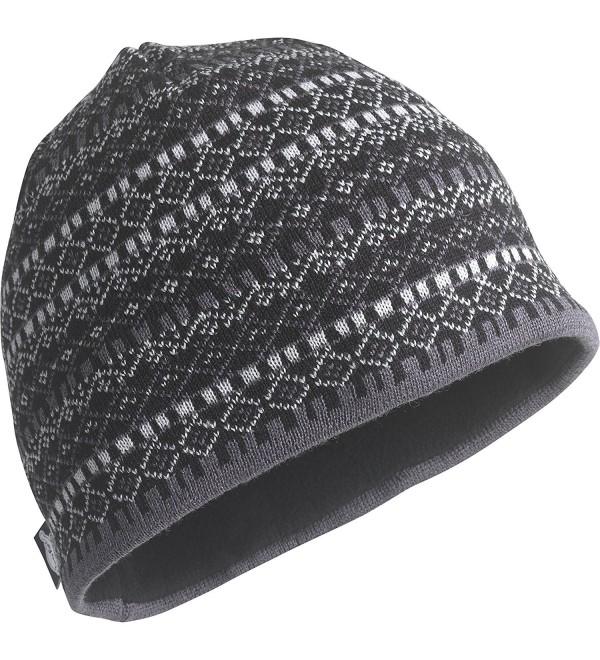 Turtle Fur Mens Merino Wool Nordic Style Beanie- Black/Solid Knits - Franz Black - C611K5PPRBT