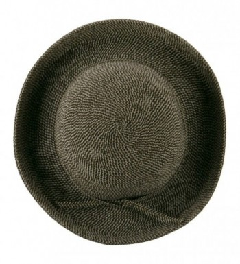UPF 50+ Tweed Cotton Paper Braid Medium Kettle Brim Hat - OSFM - Black Tweed - CH11E8U6BLH