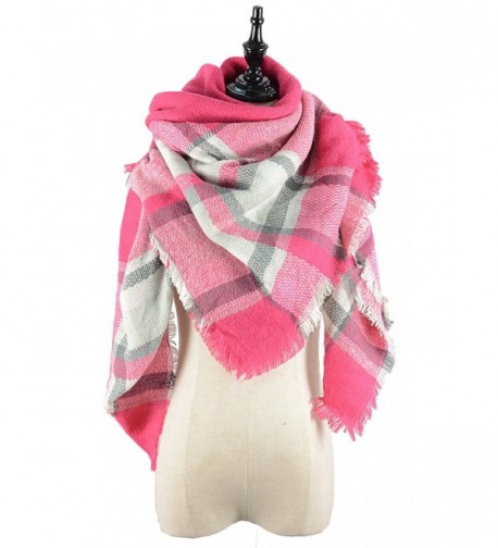 Durio Stylish Blanket Scarves Pashmina - Grey Pink Scarf - C21868HHCGU